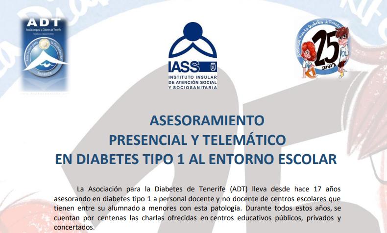 ASESORAMIENTO PRESENCIAL Y TELEMÁTICO EN DIABETES TIPO 1 AL ENTORNO ESCOLAR